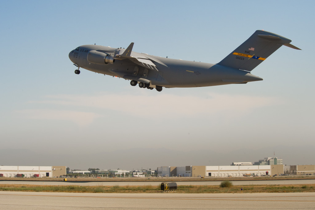 Long Beach, California, September 12, 2013. Boeing delivered the 223rd and last U.S. Air Force C-17 Globemaster III airlifter today, fulfilling the production contract more than 20 years after the first delivery