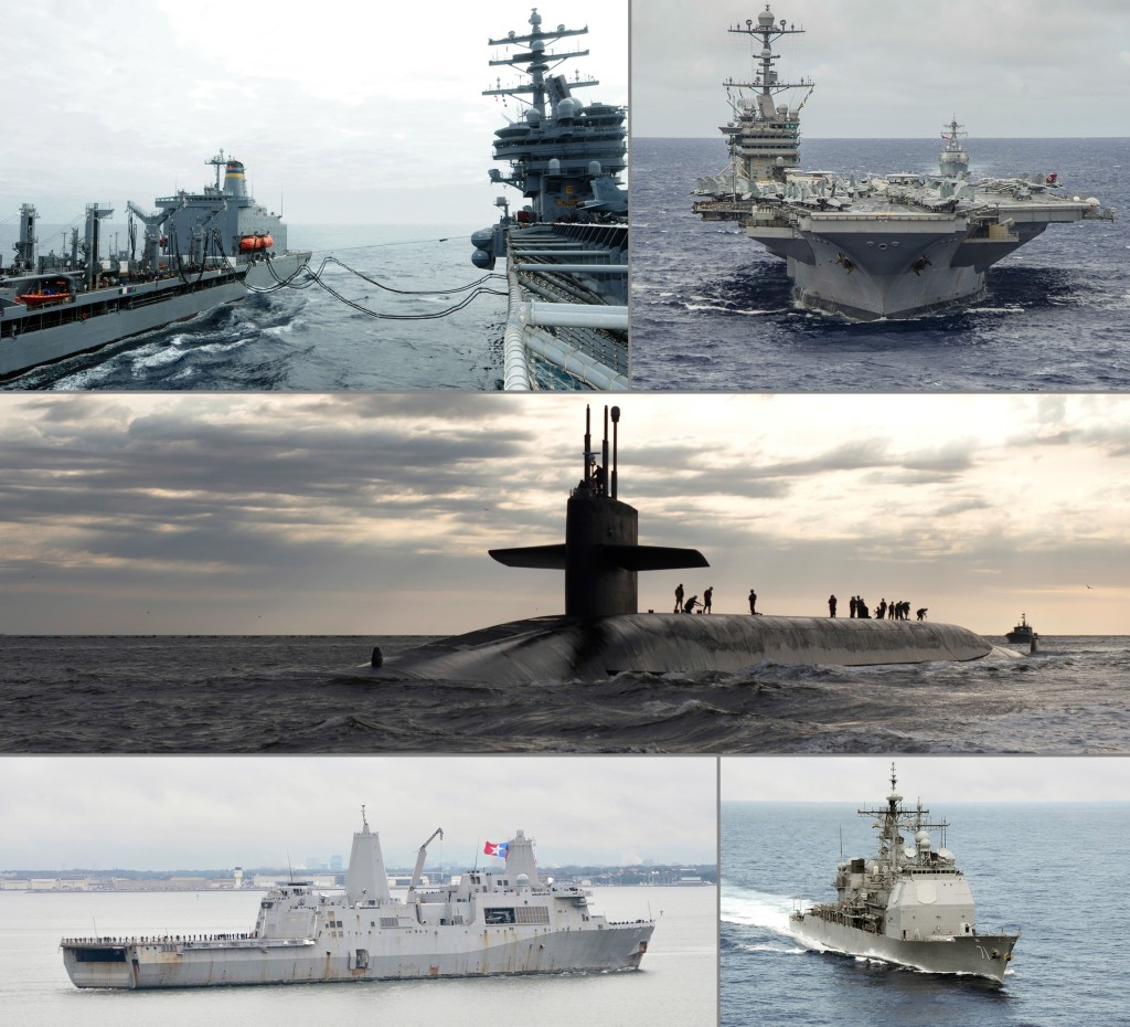 Under the 2015 plan, the Navy would buy a total of 264 ships over the 2015–2044 period: 218 combat ships and 46 combat logistics and support ships