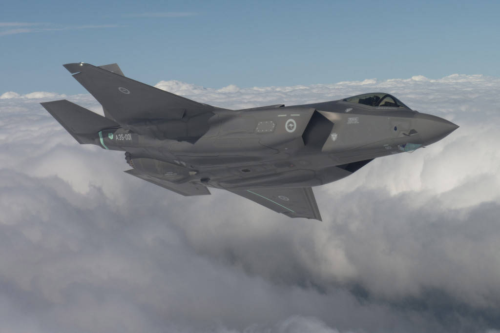 Australia's first F-35, Fort Worth, Texas.  Pilot Al Norman