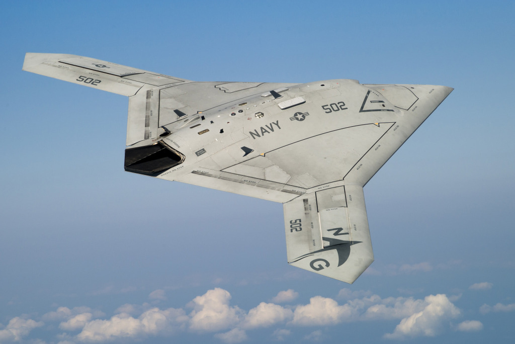 X-47B UCAS. First Flight at Pax River, July 2012