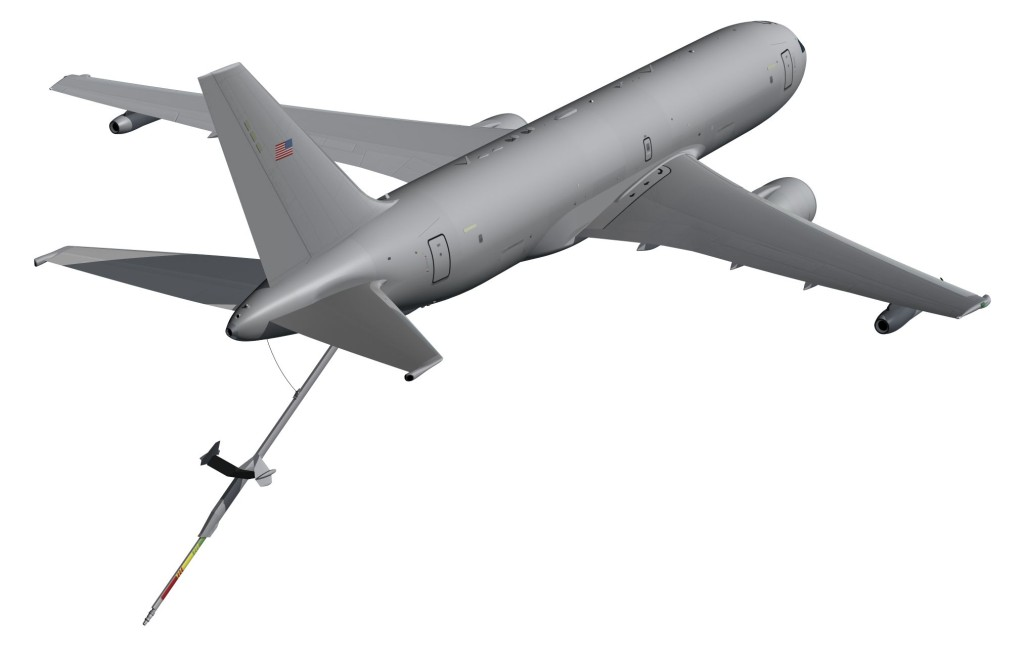 The KC-46A will be able to refuel any fixed-wing receiver capable aircraft on any mission