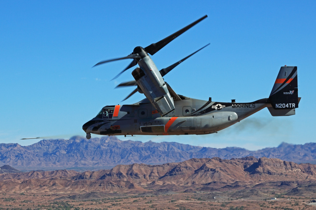 The successful demonstration of forward-firing capability for the Bell Boeing V-22 Osprey