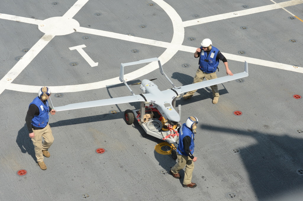 The RQ-21A completed its first shipboard flight in February 2013 from USS Mesa Verde (LPD-19)