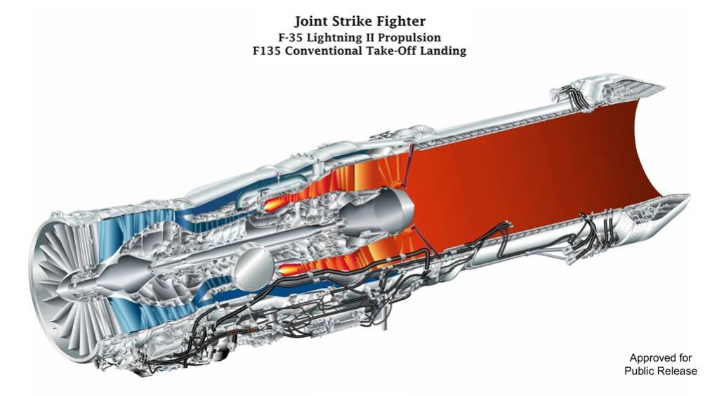 F135-PW-100 engine for F-35A Conventional TakeOff and Landing (CTOL)