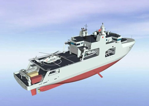 The new DeWolf-class Arctic Offshore Patrol Ships will be able to operate and support the new Cyclone naval helicopters