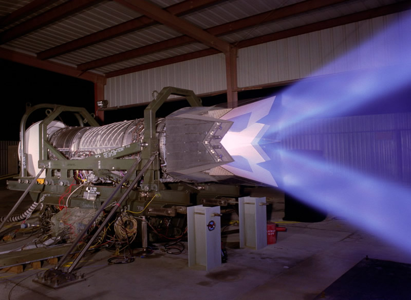 F119-PW-100 Thrust Vectoring Test
