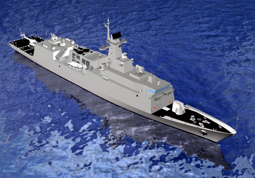 HDF-3000 type Frigate is the latest multi-purpose combatant designed by HHI in the late 2000 under RoKN FFX Program