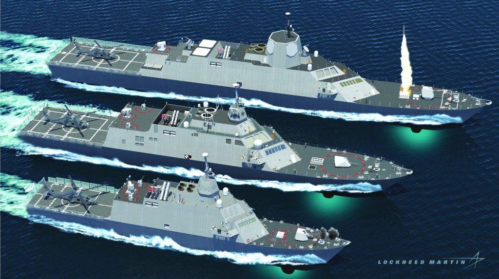 The Lockheed Martin Multi-mission Combat Ship is one potential next generation variant the company has developed. The MCS design, using the flexible LCS hullform, can be built to different sizes, configured and integrated with sensors and weapons based on individual navies' requirements. Image: Lockheed Martin