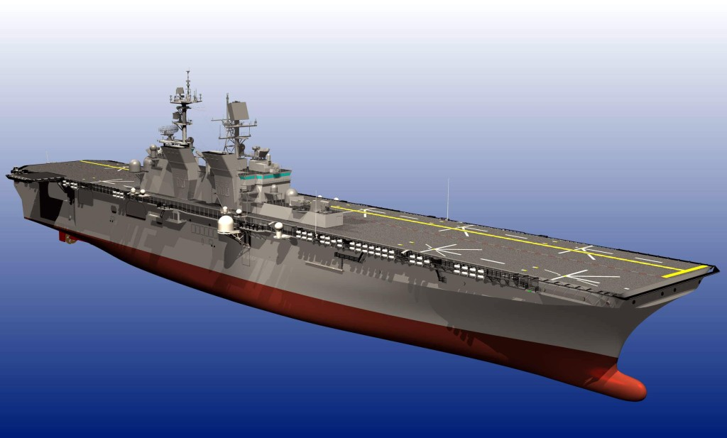 Key differences between LHA-6 and the LHD class ships include an enlarged hangar deck, enhanced aviation maintenance facilities, increased aviation fuel capacity, additional aviation storerooms, removal of the well deck, and an electronically reconfigurable C4ISR (Command, Control, Communications, Computers, Intelligence, Surveillance and Reconnaissance) suite