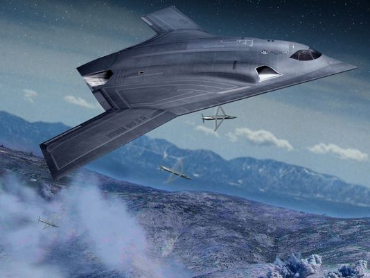 Next-generation long range strike aircraft concept (Photo: Northrop Grumman illustration)