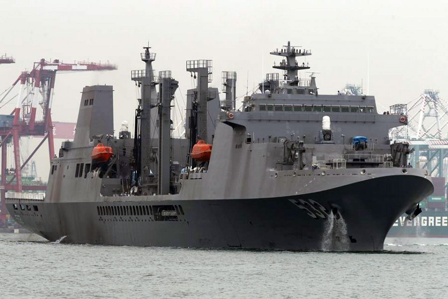 Taiwan commissions combat support ship