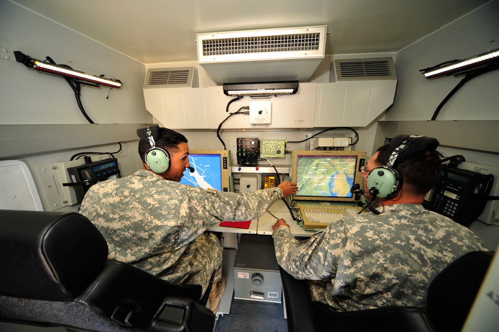 Tactical Operations Station. THAAD flight tests are operated by U.S. Army soldiers. The entire flight test takes 7 soldiers to operate; 2 soldiers for the launcher, 3 soldiers for the TFCC (THAAD Fire Control and Communications), and 2 soldiers for the radar (Photo by Lockheed Martin)