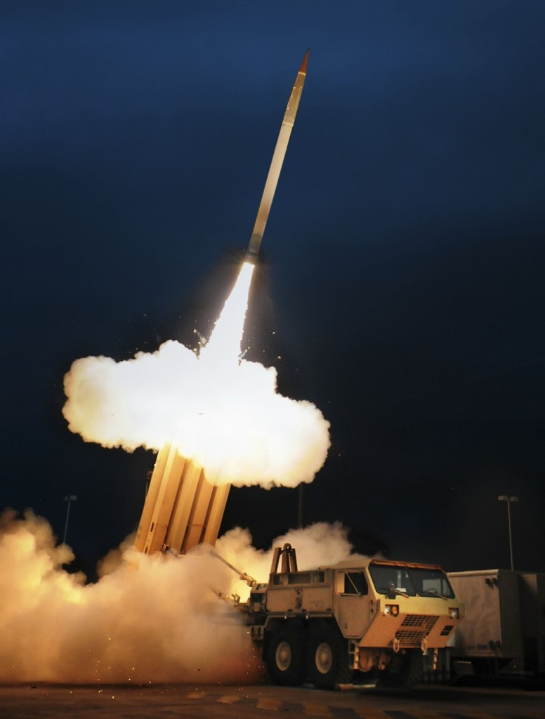 On November 22, 2005, Lockheed Martin successfully conducted a developmental flight test of the THAAD missile at White Sands Missile Range (WSMR), New Mexico. This was the first flight of the Block 04 missile that is being tested under an Engineering and Manufacturing contract awarded to Lockheed Martin in 2000 (Photo by Lockheed Martin)