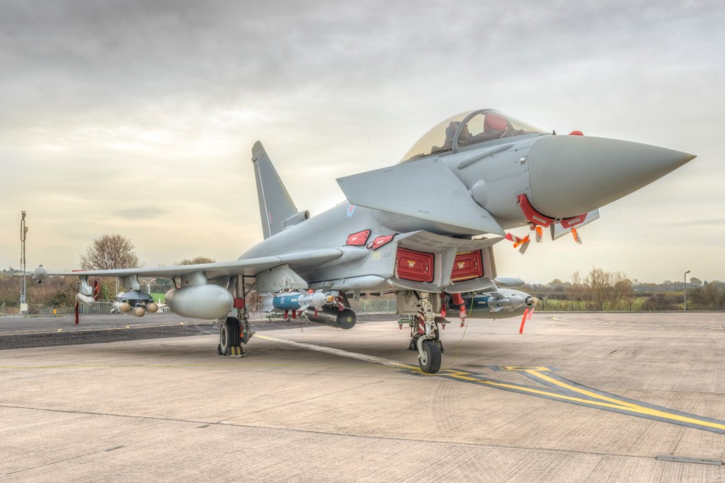 Typhoon in multi-role fit with Brimstone missile and Paveway IV