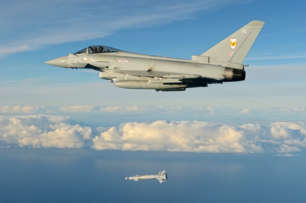 First Paveway IV Release for RAF Typhoons