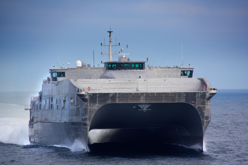 The JHSV program is procuring 10 high-speed transport vessels for the US Army and the US Navy