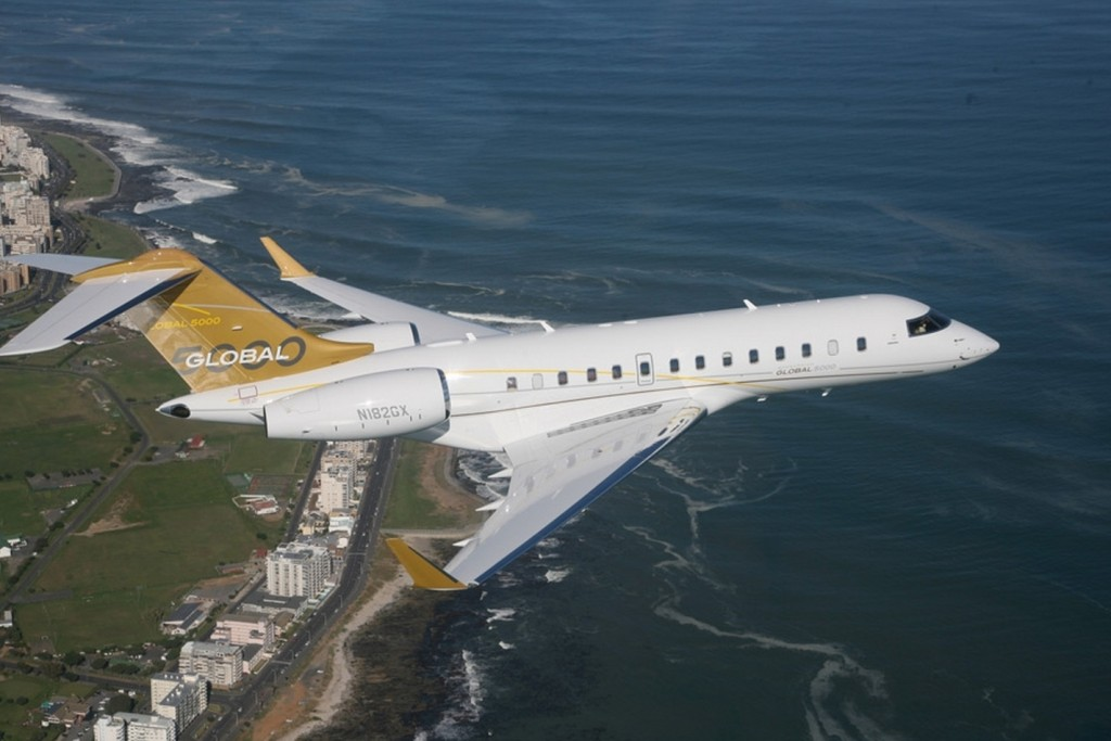 Bombardier's Global 5000 aircraft is now FAA and EASA 'steep approach certified'