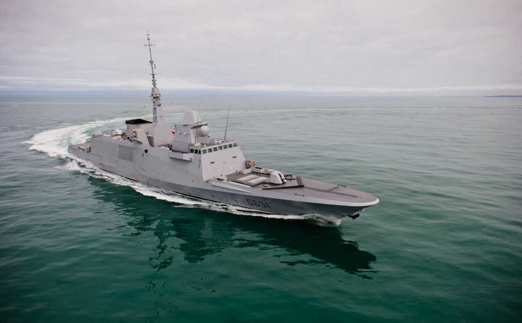 D651 «Normandie» FREMM multi-mission frigate (right side view)