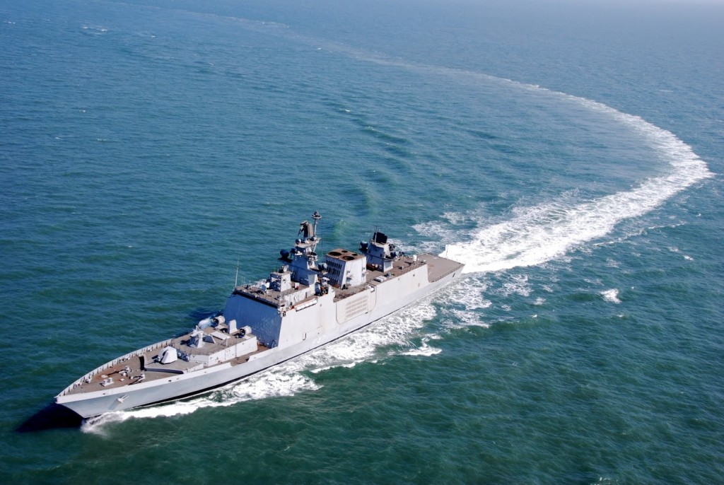 INS Shivalik is the lead ship of her class of stealth multi-role frigates built for the Indian Navy