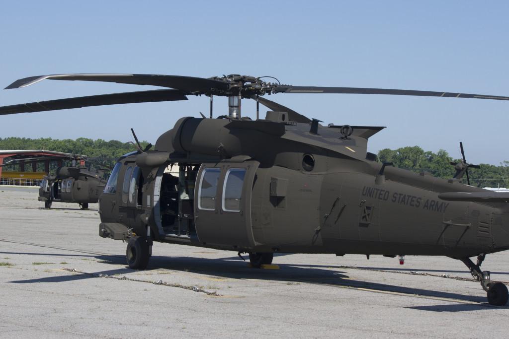 A UH-60M Black Hawk helicopter sits on the flight line of Hunter Army Airfield June 10, where 3rd Combat Aviation pilots are training on the newly-fielded equipment