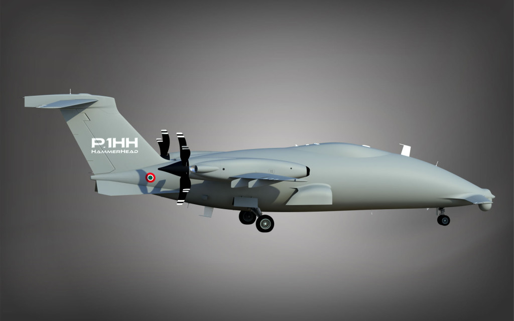 The HammerHead Demo undertook between 40 and 50 flights in preparation for Prototype 001's maiden flight