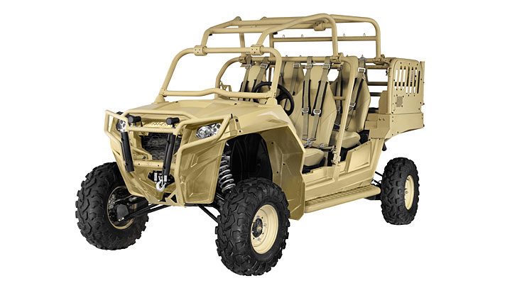 Polaris, whose core business is recreational vehicles, has several ATVs modified for military operations