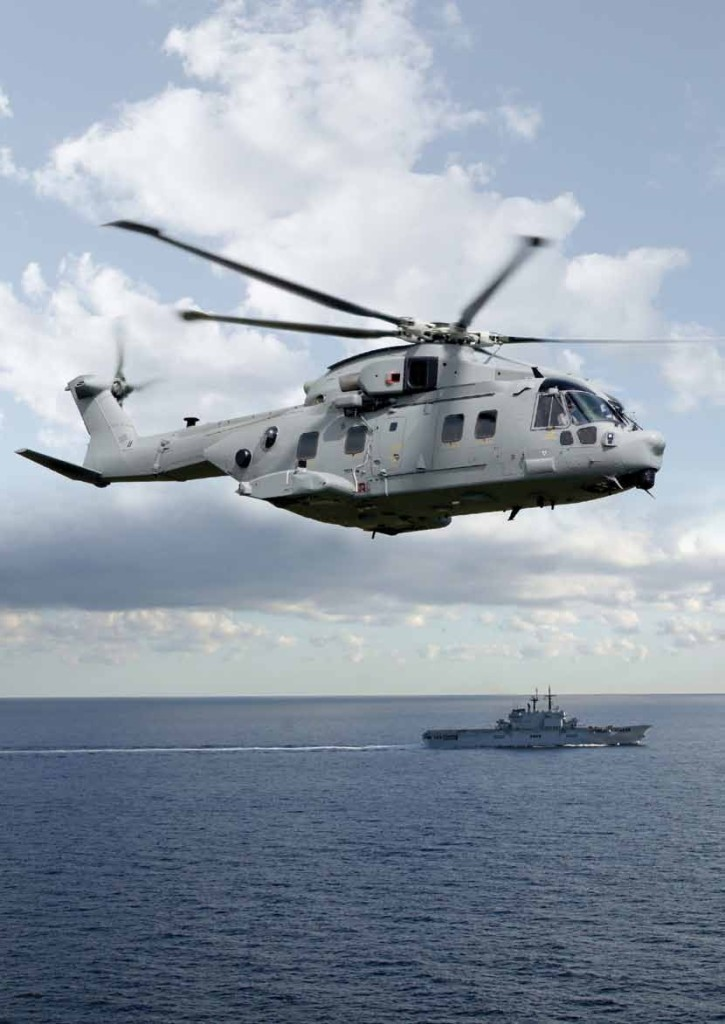 With a typical range of 735 NM (over 1,360 km) in standard configuration the MCH-101 is the most capable Maritime helicopter in the world today