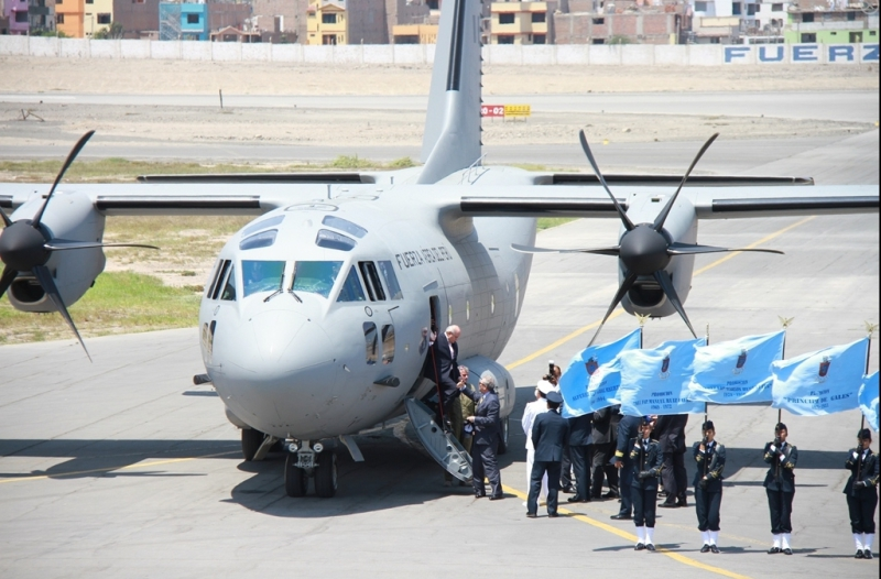 Alenia Aermacchi delivered the first of four C-27J Spartan airlifters to the Peruvian air force on March 27, during a ceremony attended by the two countries' defense ministers. The remaining aircraft will be delivered by 2017 (Peru MoD photo)
