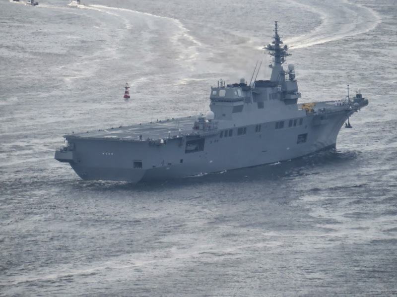 This ship could possibly carry up to 28 aircraft. However, only 7 ASW helicopters and 2 SAR helicopters are planned for the initial aircraft complement