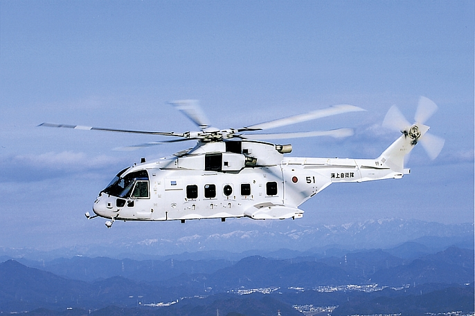 The MCH-101 is the only modern helicopter capable of towing the AN/AQS-24A