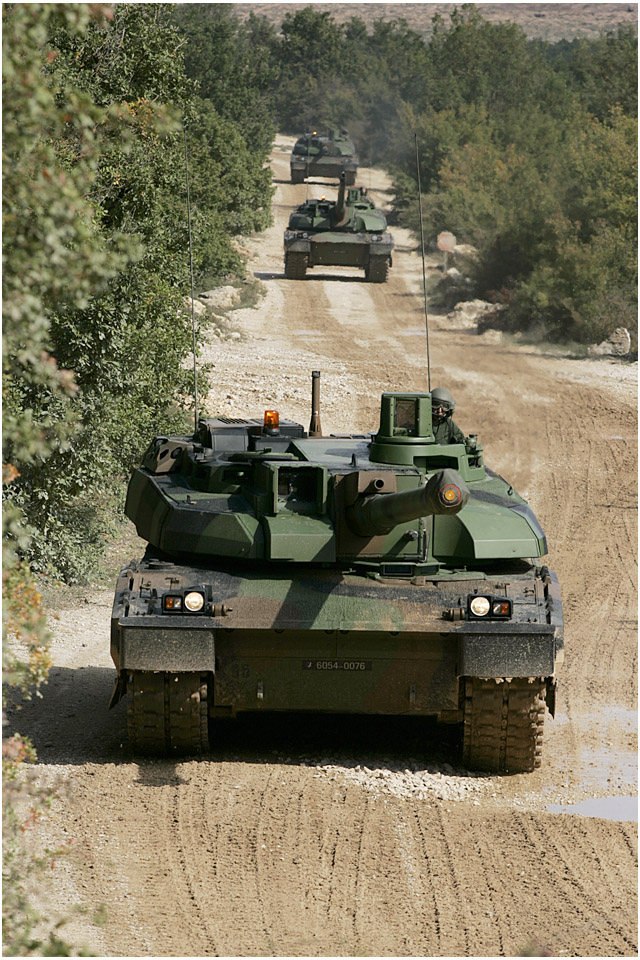 The Leclerc is equipped with a CN120-26 120-mm smoothbore cannon