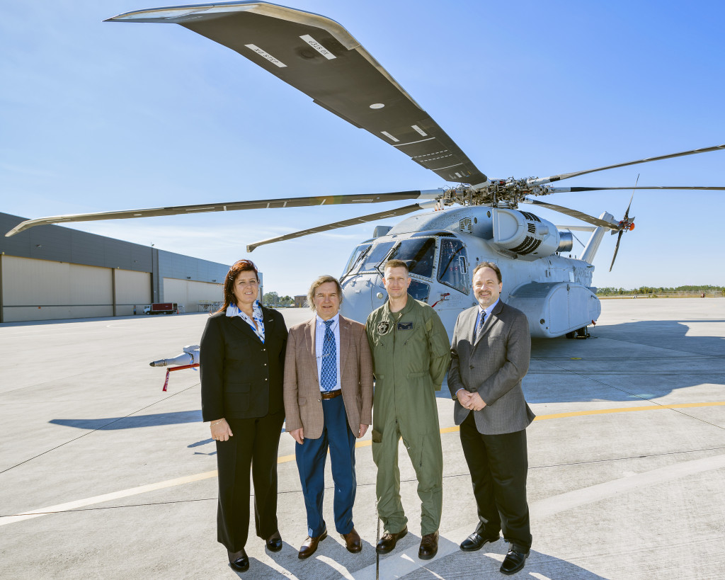 The delegation was also able to view the CH-53K Engineering Development Model 1 (EDM 1), one of four flight test aircraft