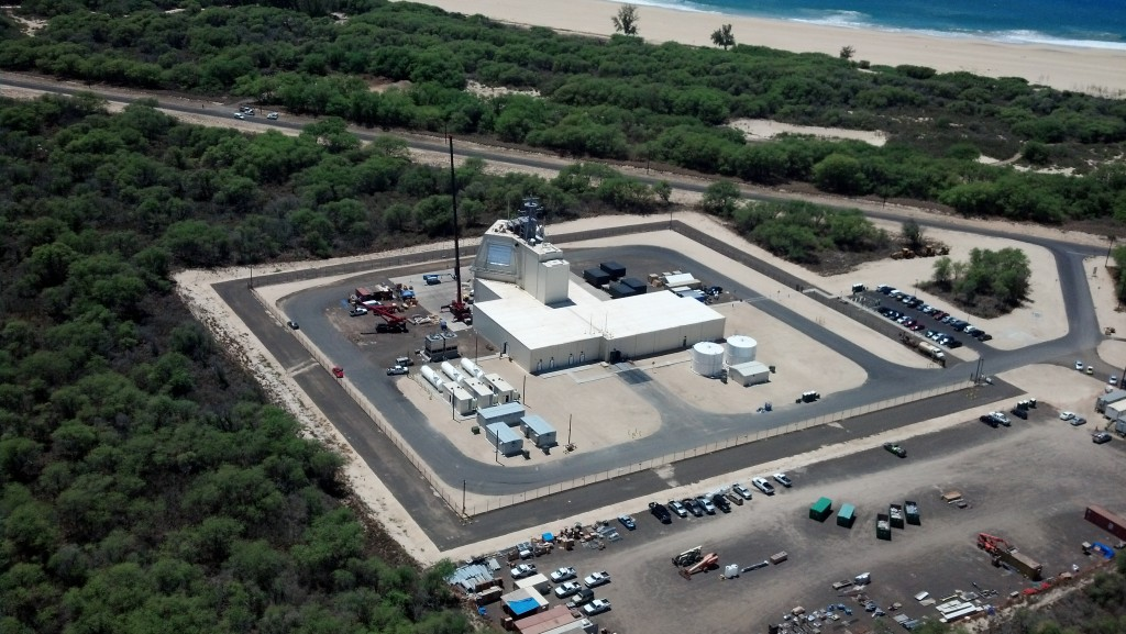 The deckhouse for the Aegis Ashore system at the Pacific Missile Range Facility. This is the test asset for the Aegis Ashore system that will be emplaced in Romania and Poland (Missile Defense Agency Photo)