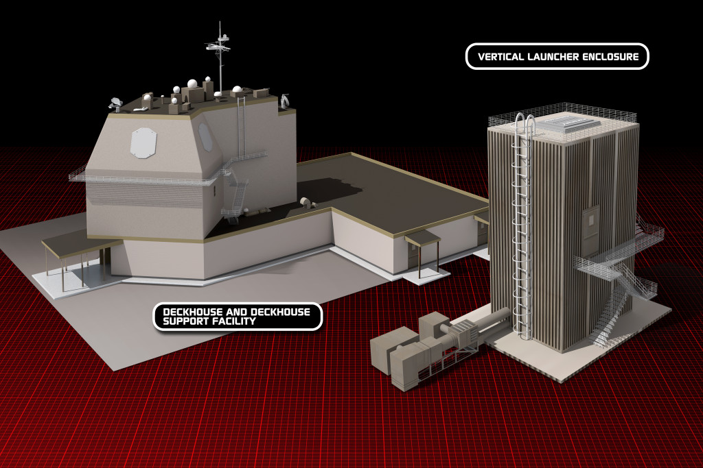 Aegis Ashore is the land-based component of the Ballistic Missile Defense System and will use the same components that will be used onboard the Navy's new construction Aegis BMD Destroyers