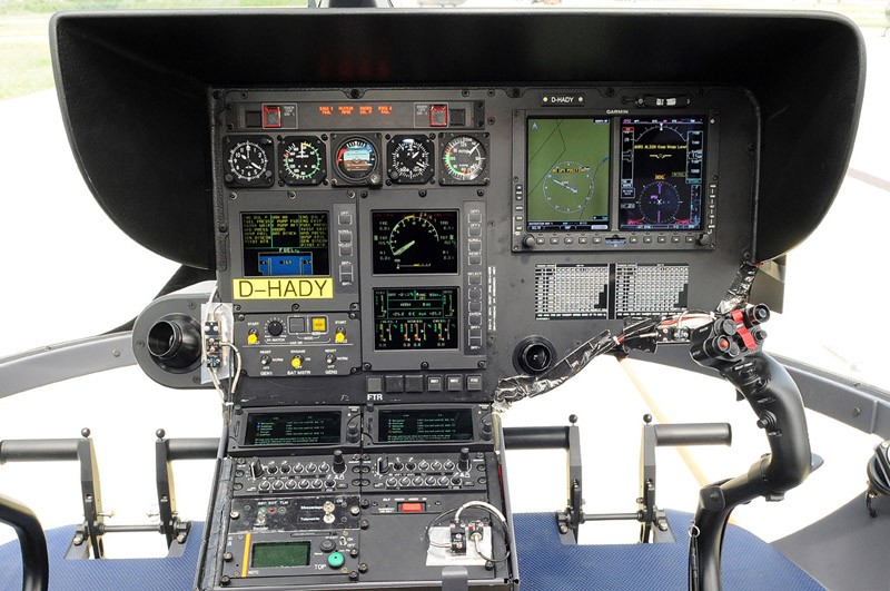 The EC145's integrated glass cockpit includes Airbus Helicopters' Vehicle and Engine Multifunction Display (VEMD) and a Caution and Advisory Display (CAD) to enhance pilot efficiency – thereby reducing pilot fatigue and enhancing flight safety