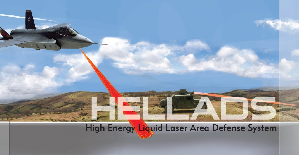 The HELLADS programme involves development of a 150 kW laser weapon system to counter ground threats such as RAM and surface-to-air missiles