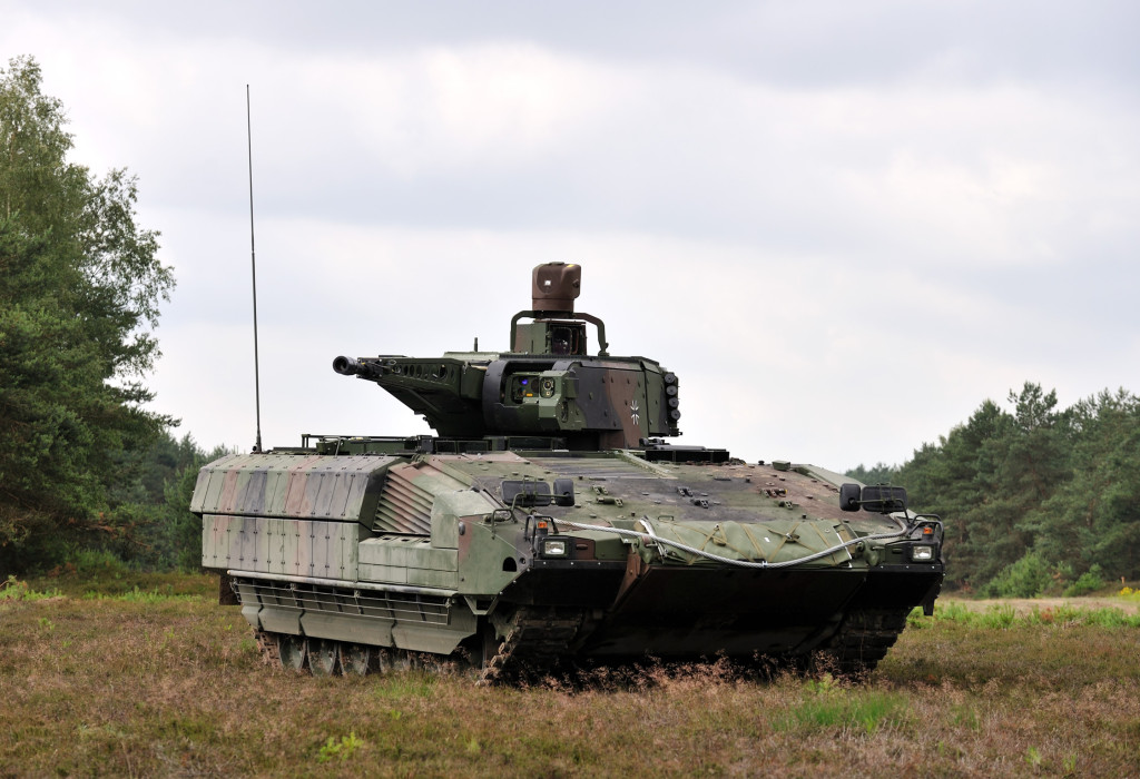 The ballistic armour is designed to provide protection against hand-held anti-tank weapons, medium calibre weapons, artillery fragments and bomblets