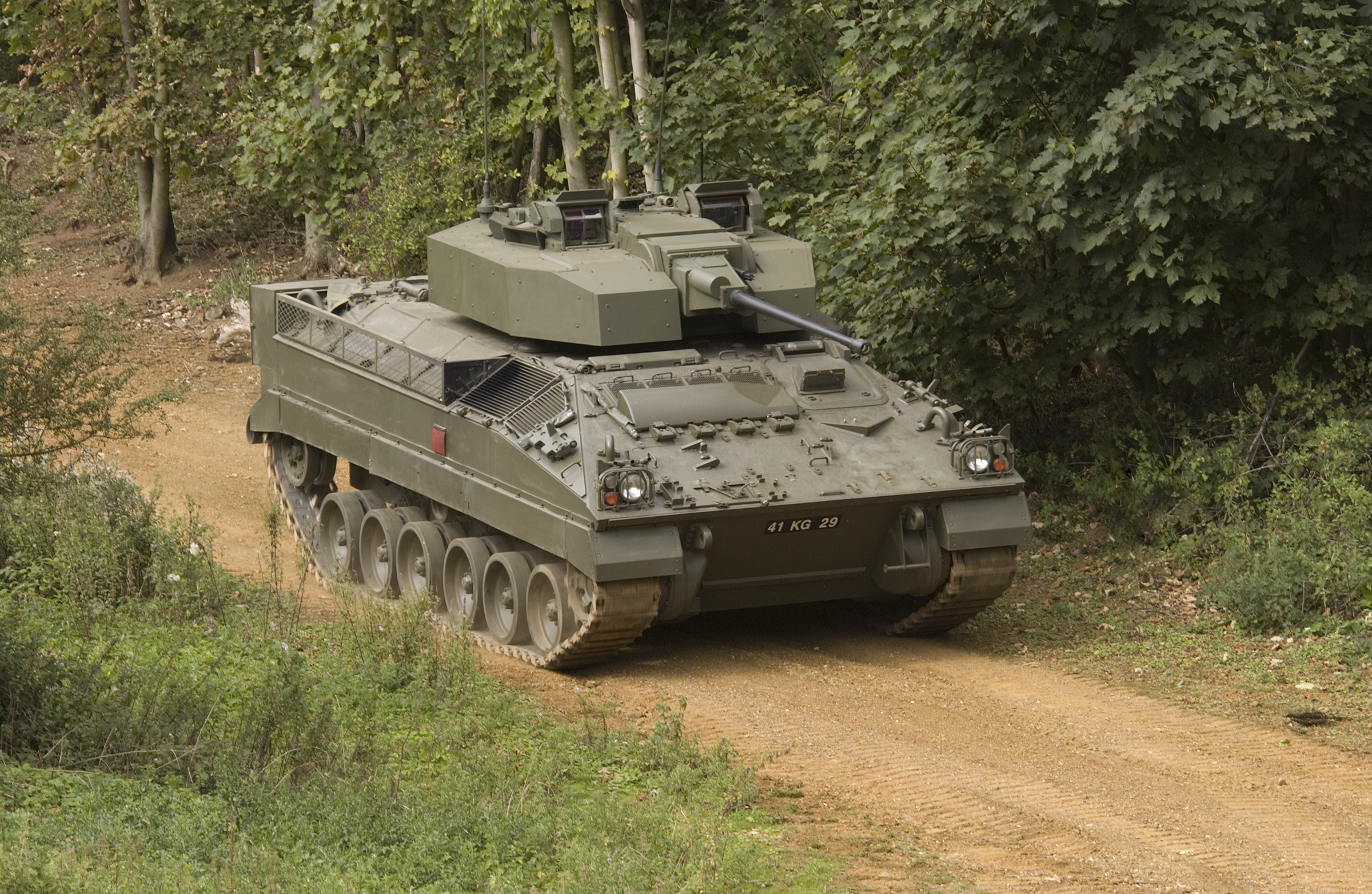 The first modernized warrior 2 infantry fighting vehicles transferred to the British Army 35