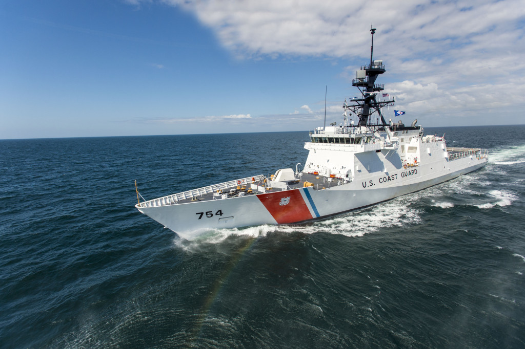 The fifth Ingalls-built U.S. Coast Guard National Security Cutter, USCGC Joshua James (WMSL-754), sailed the Gulf of Mexico last week for her successful builder's sea trials. Photo by Lance Davis/HII