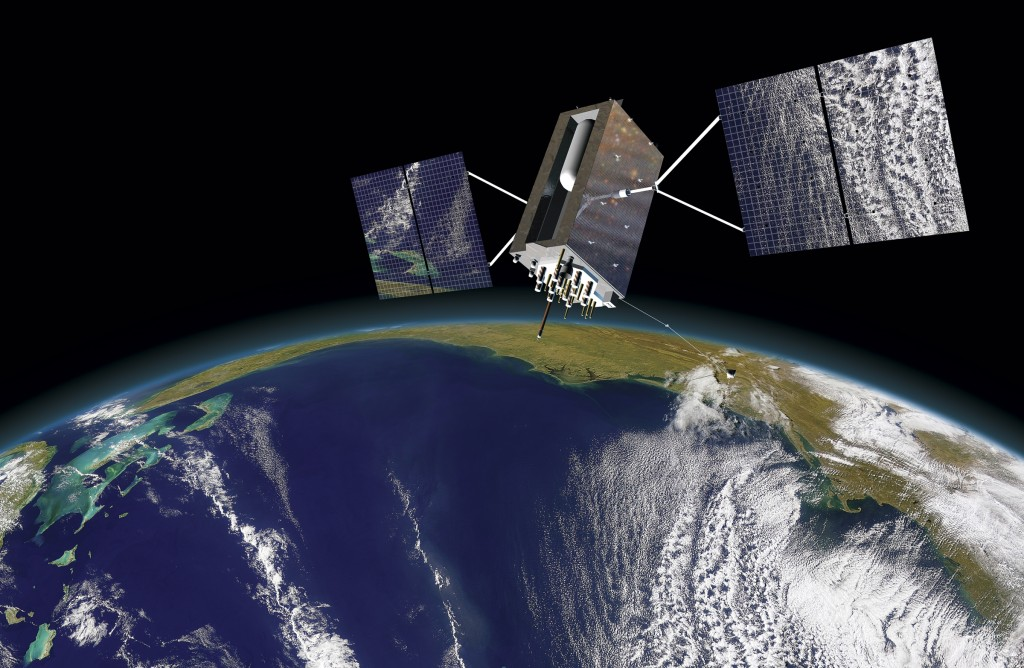 An artist's rendering of the GPS III satellite