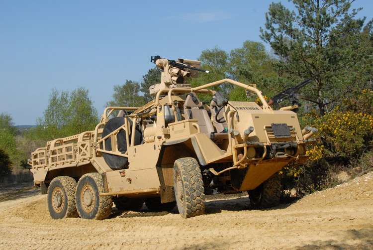 The open vehicle is typically used for scout, patrol and special forces-type roles