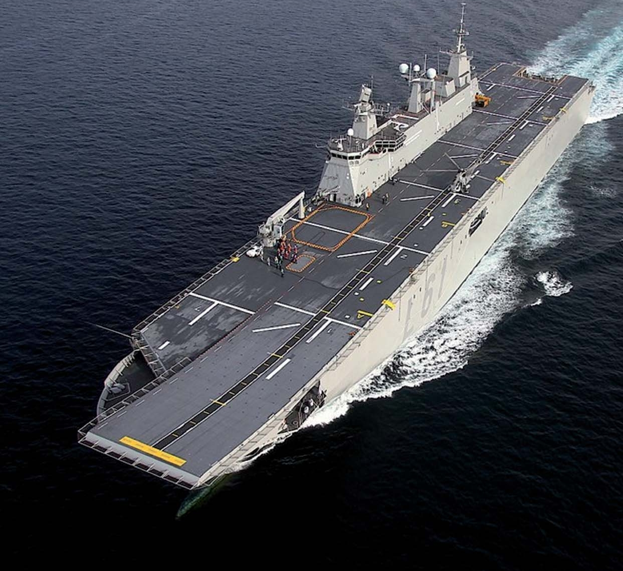 Hmas Adelaide L01 Helicopter Carrier The Power Of Royal Australian Navy