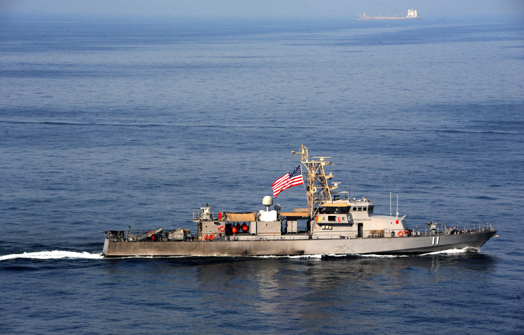 The Cyclone-class coastal patrol ship USS Whirlwind (PC-11) transits the Arabian Gulf. (U.S. Navy photo by Mass Communication Specialist 3rd Class Kenneth Abbate/Released)
