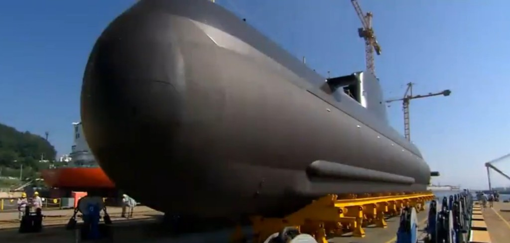 The submarine is being built by Daewoo Shipbuilding and Marine Engineering and it will be delivered in November of next year