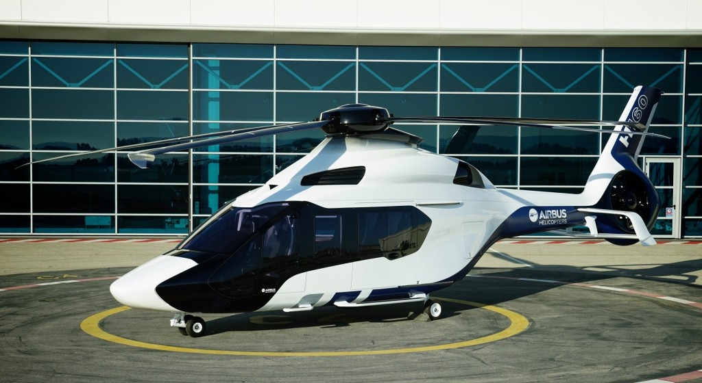 The first prototype of Airbus HC's new H160 helicopter has begun flight tests, with two more prototypes to follow; service introduction is scheduled for 2018 (Airbus HC photo)