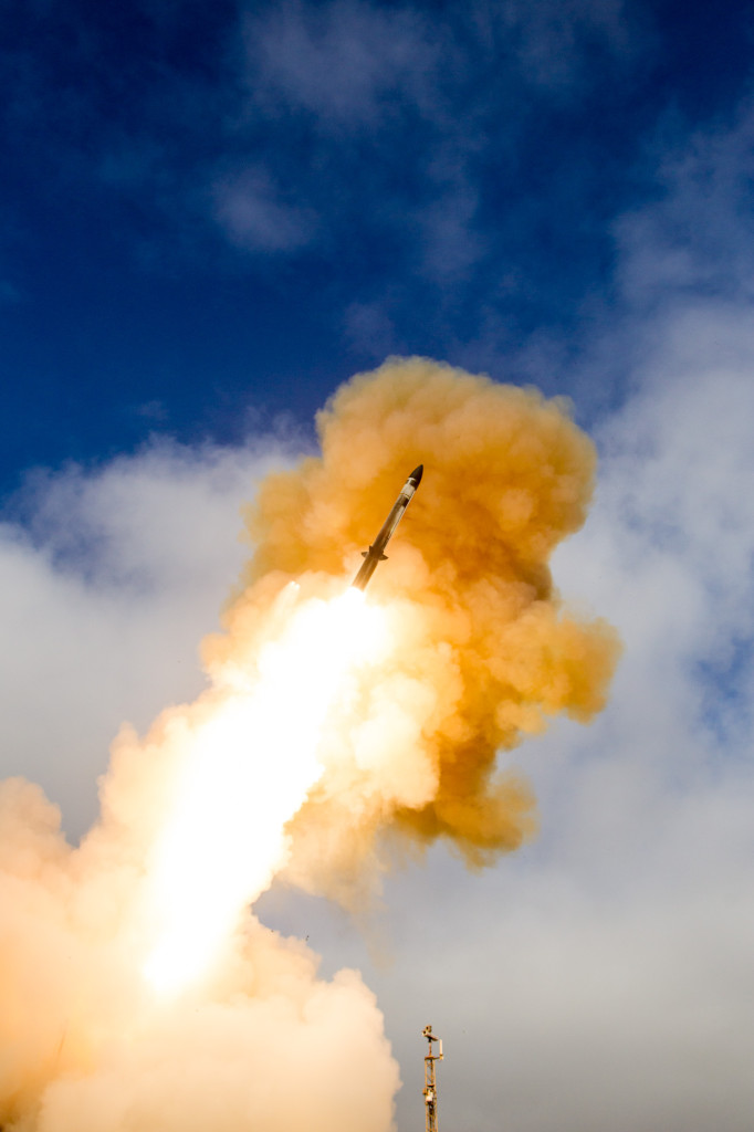 Raytheon's Standard Missile-3 Block IIA completed its first flight test on June 6, 2015, at the U.S. Navy's Pacific Missile Range Saint Nicolas Island Facility, California (Photo: Missile Defense Agency)