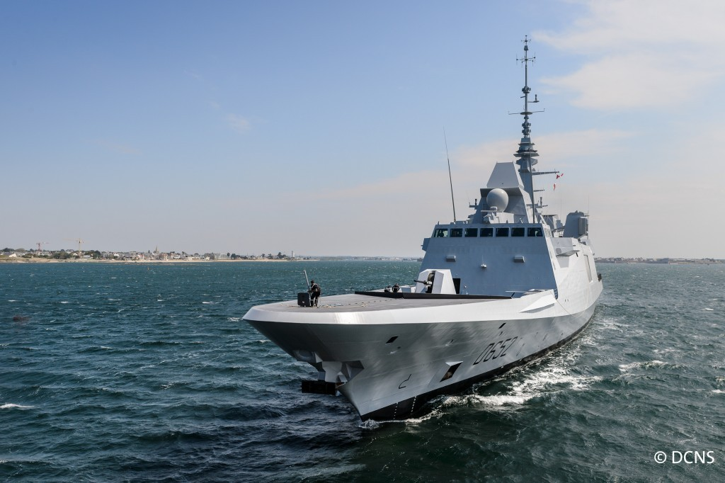 The D652 Provence, the French navy's second FREMM-class multipurpose frigate, leaves Lorient after being officially handed over. DCNS now has four similar frigates in various stages of completion, and additional orders are planned (DCNS photos)