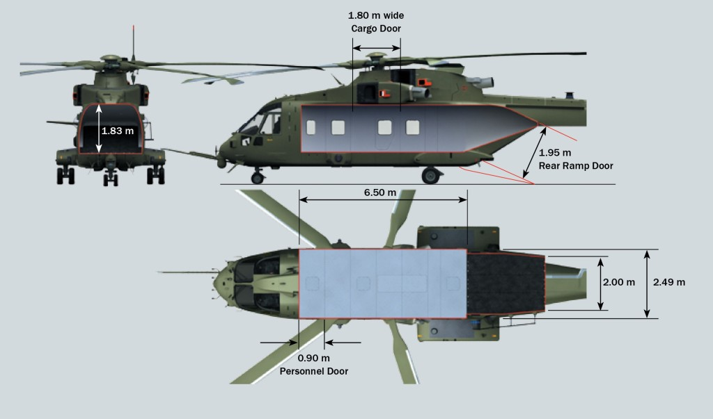 With the largest cabin in its class, the AW101 provides customers with greater operational flexibility