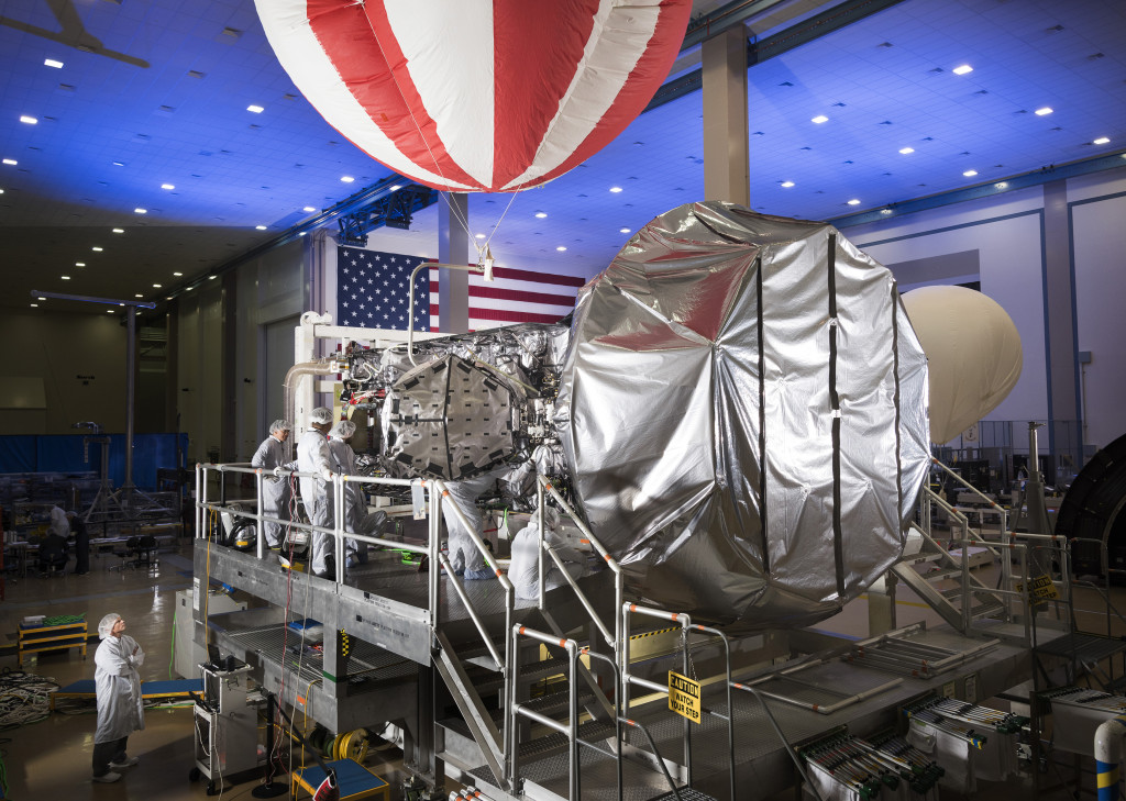 MUOS-4, the next satellite scheduled to join the MUOS network later this year, is in final assembly and test at Lockheed Martin's satellite manufacturing facility in Sunnyvale, California