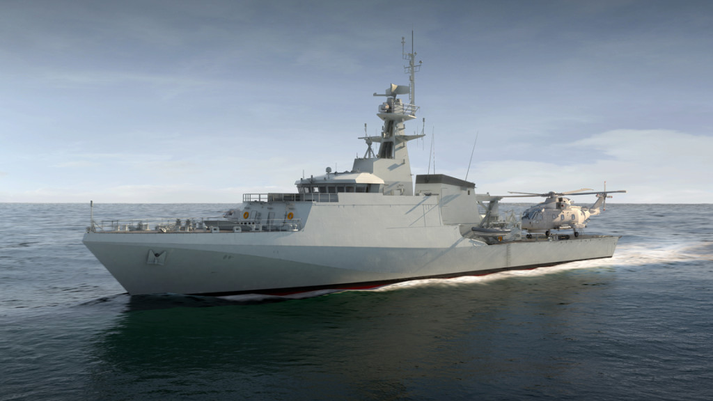 Construction of the first of class vessel HMS Forth is now well underway with its first unit transferred into the Ship Build Outfit Hall in Glasgow